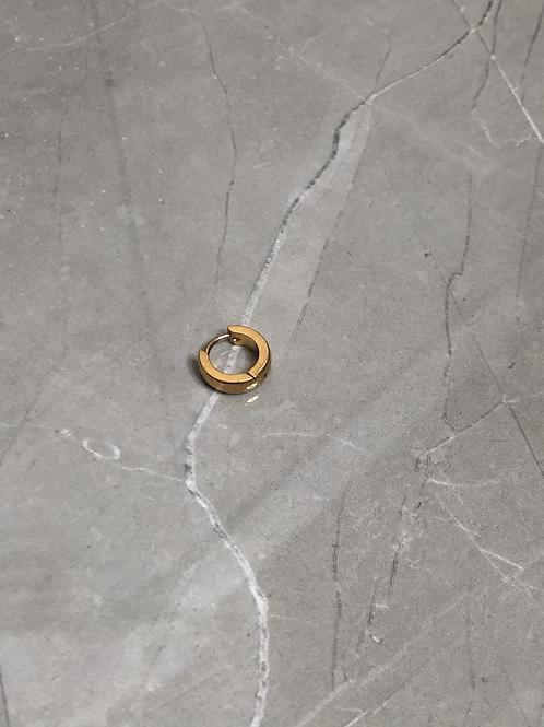 Boucle d'oreilles anneau en acier doré