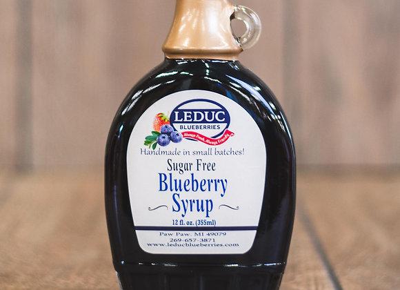 No Sugar Added Blueberry Syrup