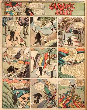 Frank King en de grenzen tussen beeldende kunst en strip