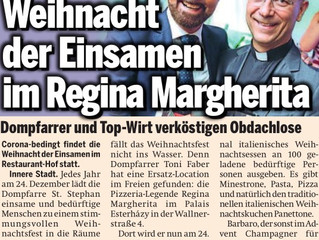 ÖSTERREICH TAGESZEITUNG - WEIHNACHT DER EINSAMEN IM REGINA MARGHERITA!