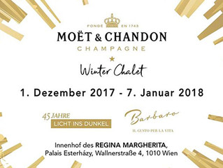 Pre-xmas drinks for a good cause - Moët & Chandon Winter Chalet