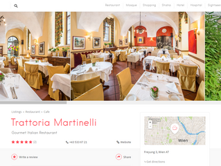 """Trattoria Martinelli"" Gourmet Italian Restaurant on Halal City Guide!"