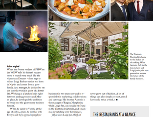 """Der Standard"" Newspaper presents STUDIO Magazine Article - Vienna's culinary offerings ar"