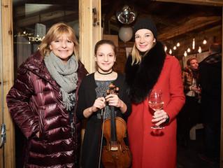 """""""Supertalent"""" Allegra Tinnefeld begeisterte Gäste beim Moet & Chandon Winter Chalet Cl"""