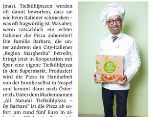 """BZ Wiener Bezirkszeitung - """"Regina Margherita"""" ab jetzt auch im Tiefkühler!"""