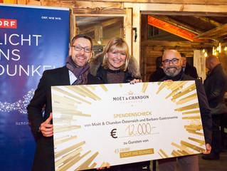 TOAST FOR A CAUSE - Moët & Chandon und Barbaro Gastronomie übergibt Spenden-SCHECK über € 12.000