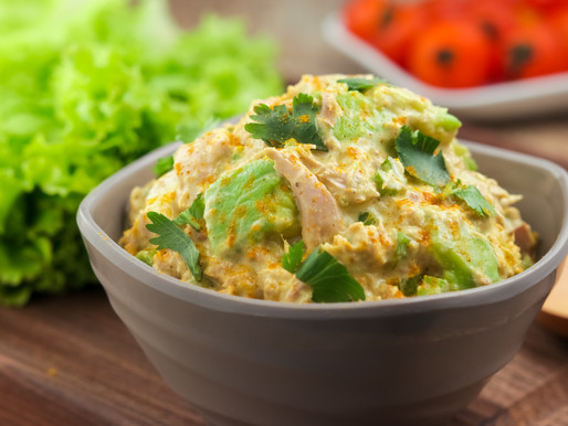 Keto Diet - Curry Spiked Tuna and Avocado Salad