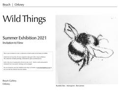 Wild Things Exhibition Invitation to Vie