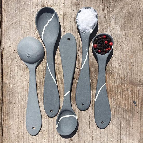 Porcelain Pebble Spoons (Pair)