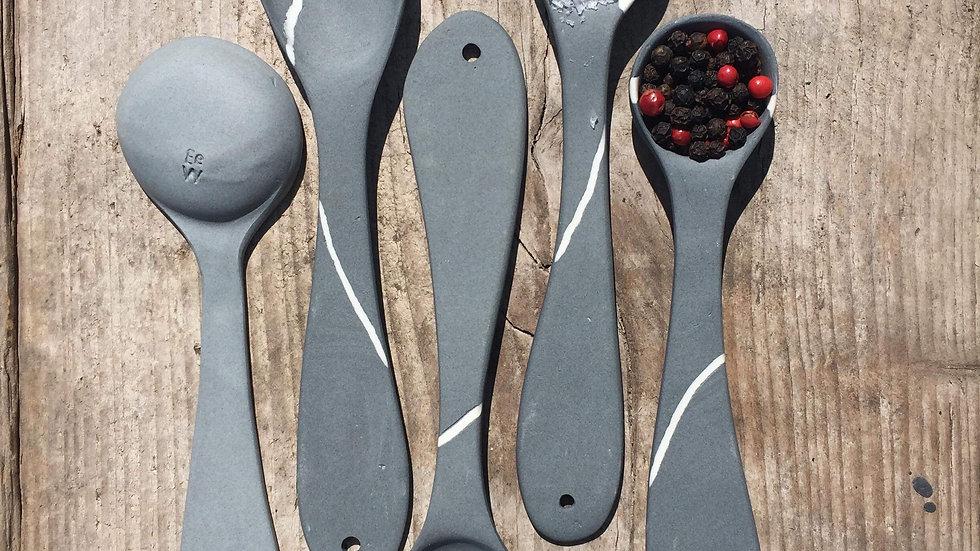 Porcelain Pebble Spoons