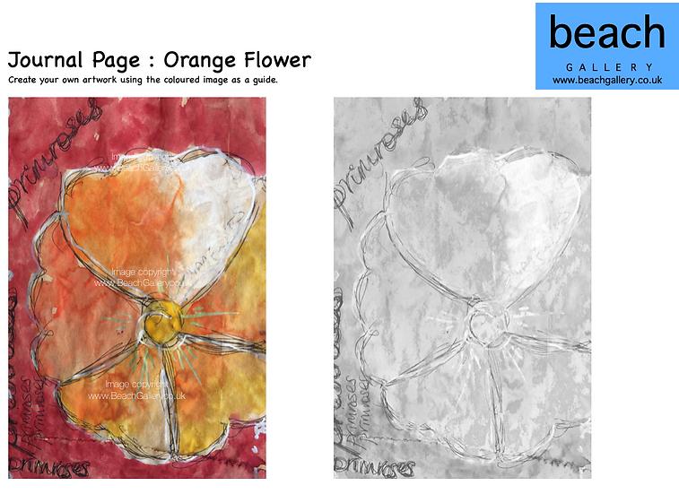 Journal Page : Orange Flower