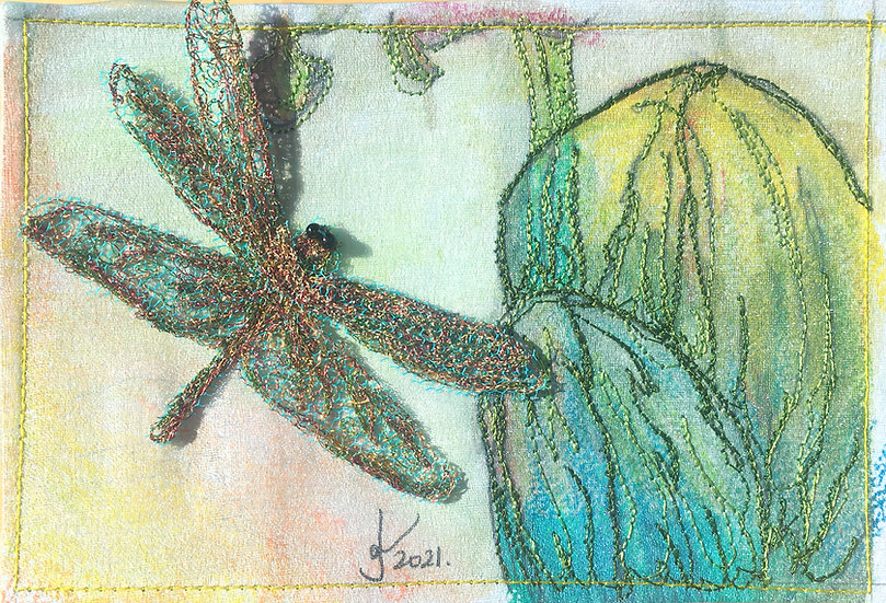 Wild Orchid & Dragonfly