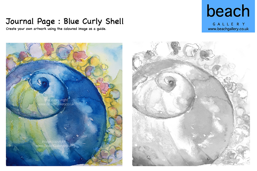 Journal Page : Blue Curly Shell