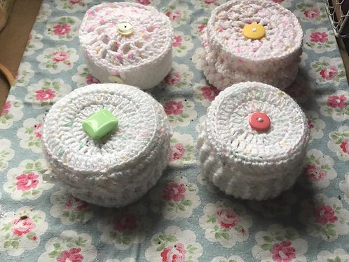 Crocheted Trinket Boxes