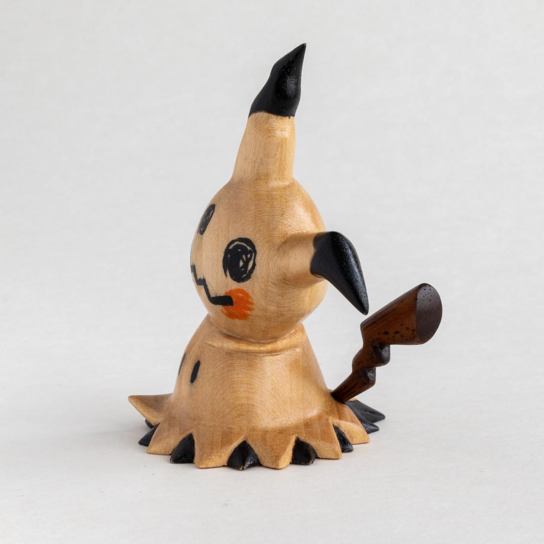 Wood carved Mimikyu Basswood and Walnut