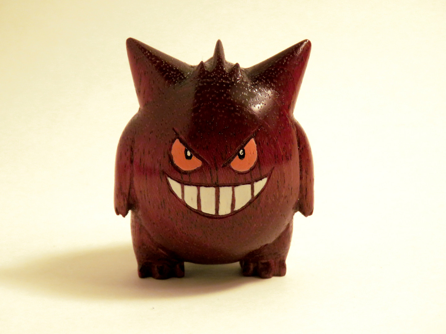 Gengar wood carving pokemon figure