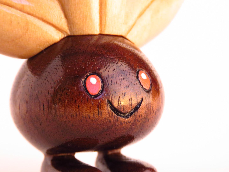 Oddish wood carving pokemon figure
