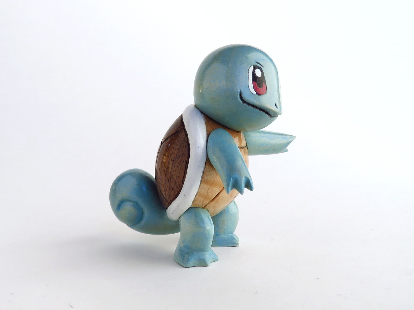 Squirtle Woodcarving Wooden Pokemon Figure Sculpture