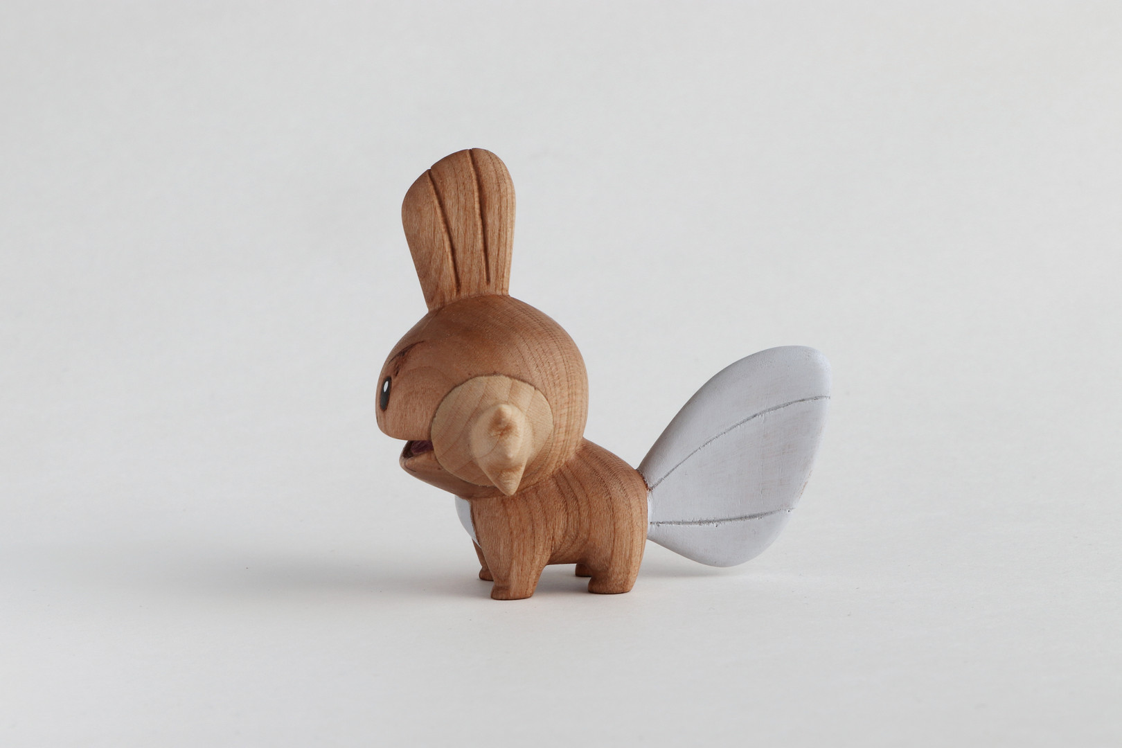 Mudkip wood carving wooden pokemon hand carved figure