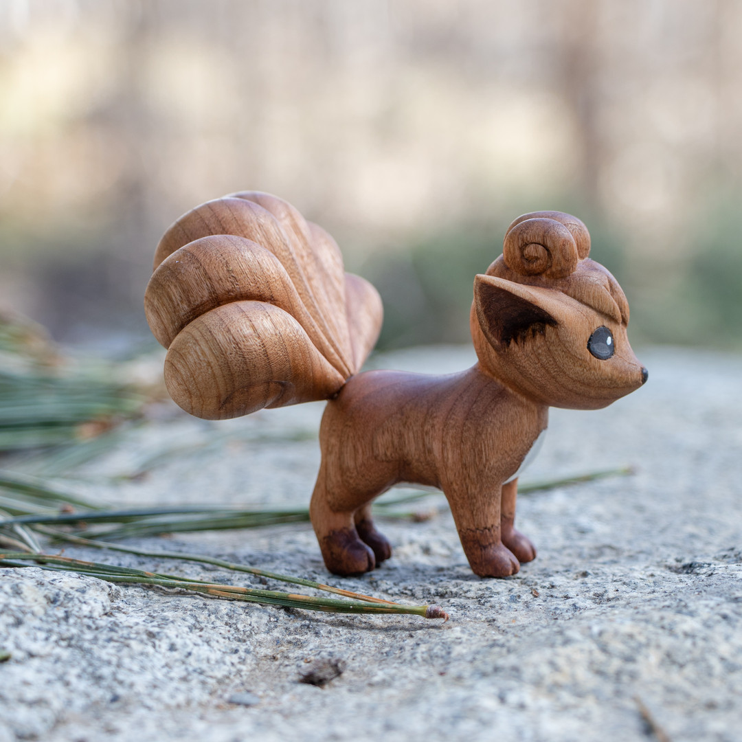 Wood carved Cherry Vulpix