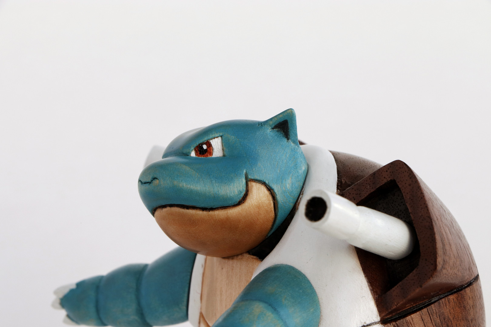 Blastoise wood carving wooden pokemon hand carved figure