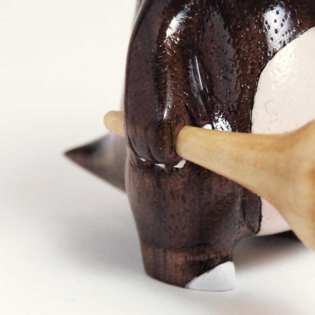 Cubone Pokemon Wood carving figure