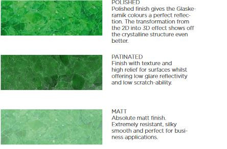 Polished, Patinated and Matt comparison.