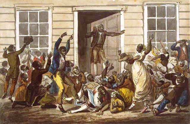Black People's Prayer Meeting by John Lewis Krimmel, 1813