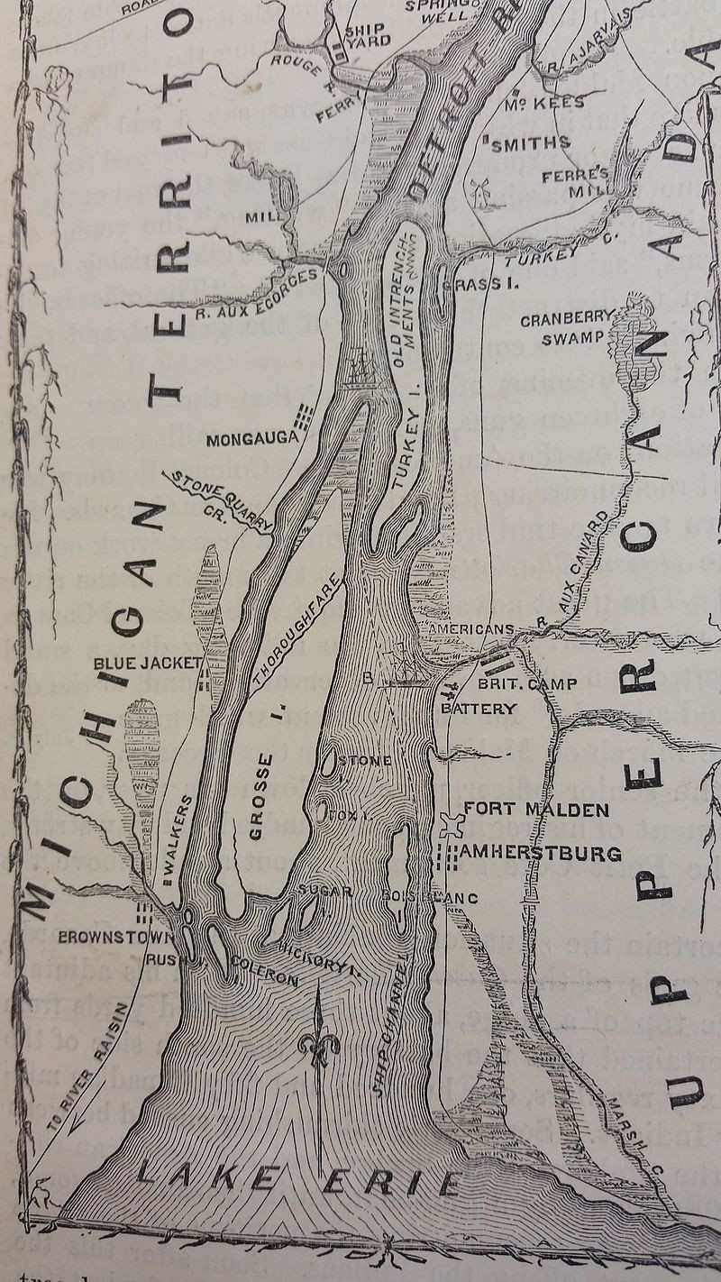 Map of Fort Malden (Amherstberg) Area