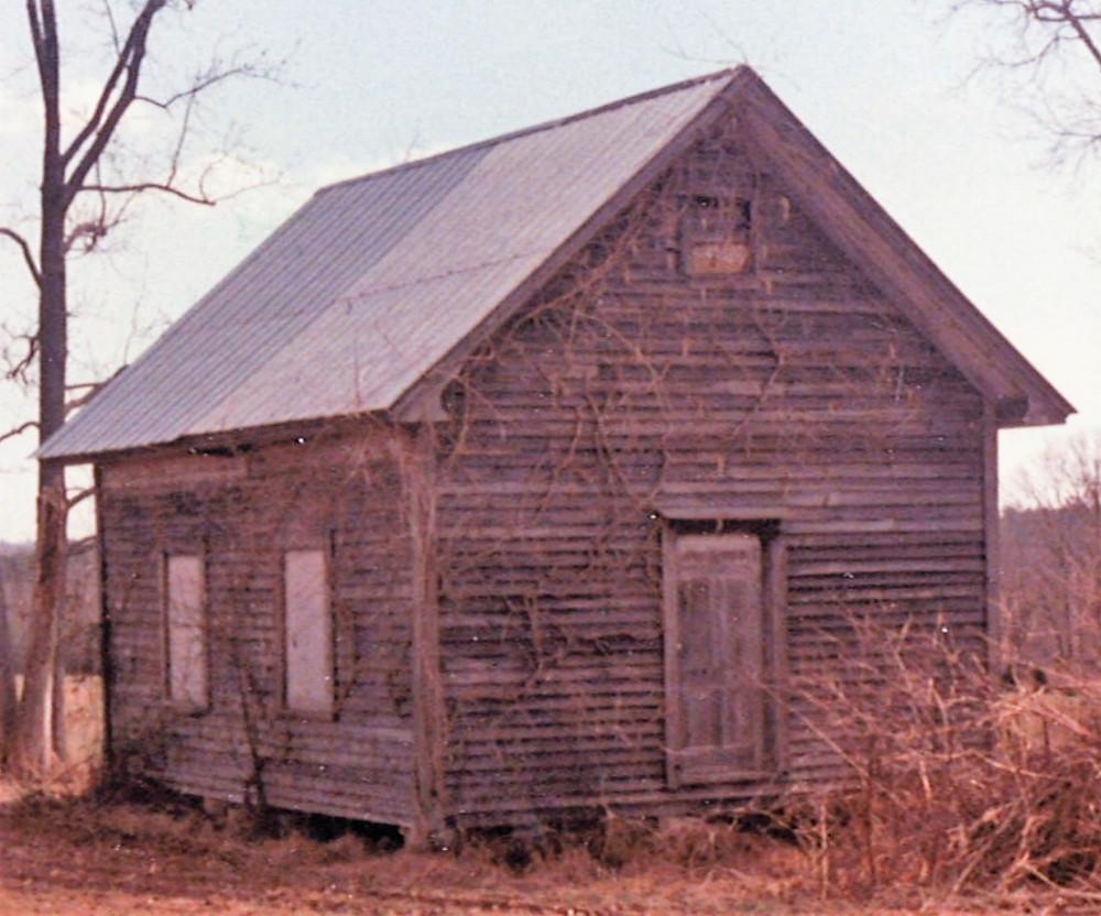 "A surviving ""oldfield"" school building in NC"