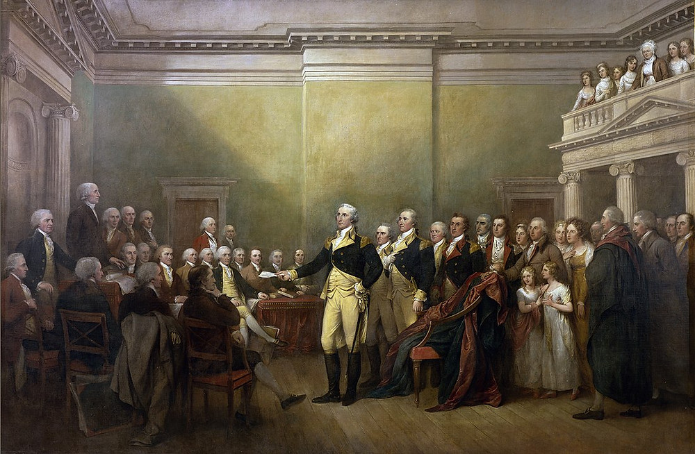 George Washington Resigning his Commission to Congress,  1824