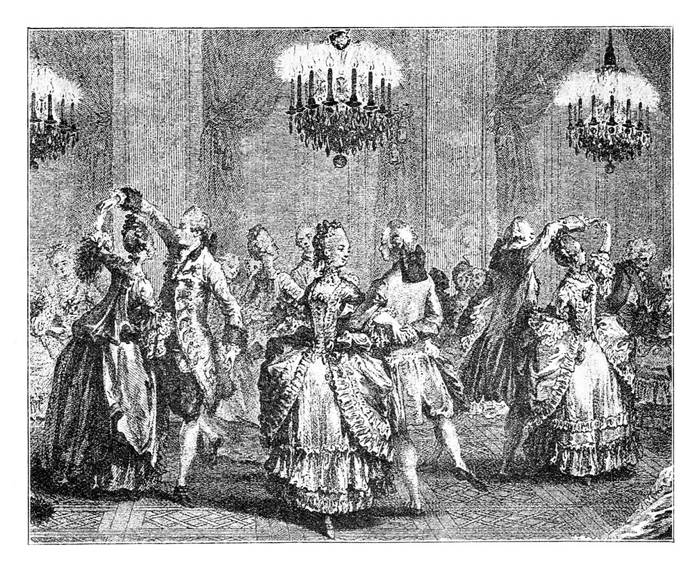 Mid-18th Century Dancers at a Ball