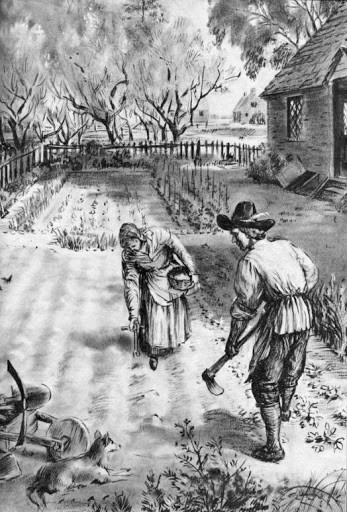 Planting a Kitchen Garden in 17th C. Virginia