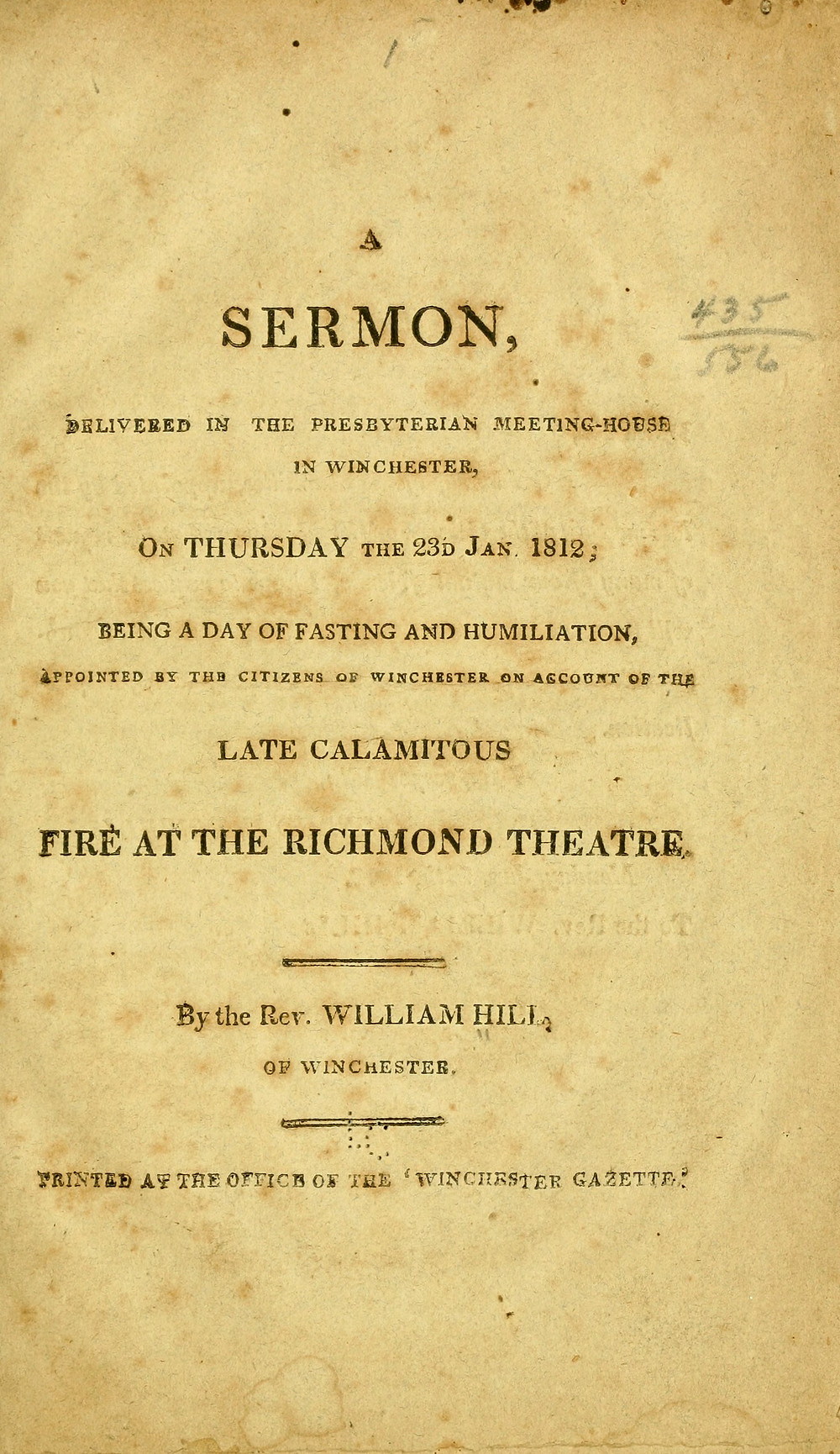 Copy of Rev. Hill's Sermon