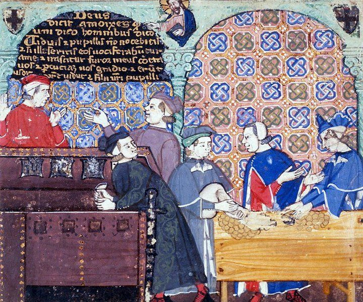 Illustration of a Medieval Bank