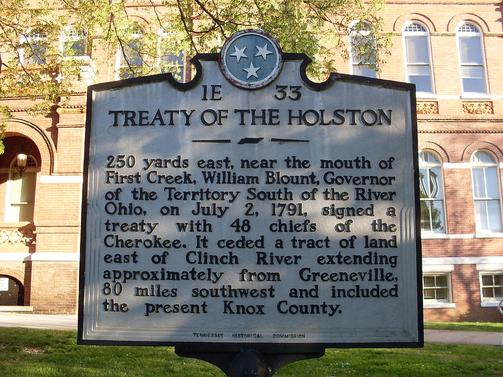Treaty of the Holston Historic Marker