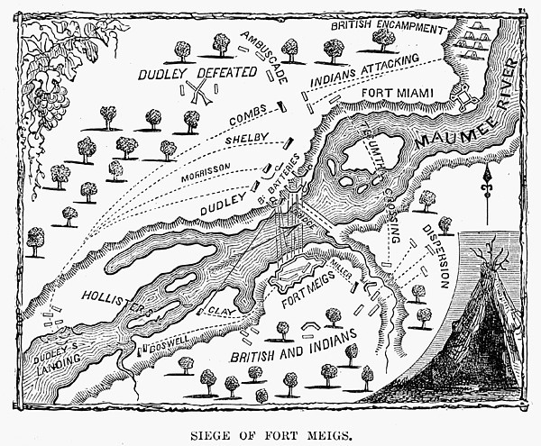 Map of the Siege of Fort Meigs