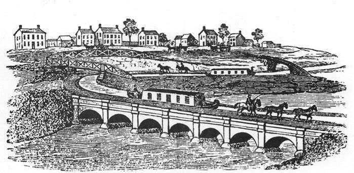 Aqueduct for Erie Canal over the Genesee River