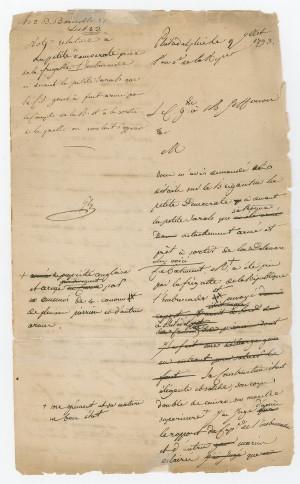 Handwritten Letter from Genet to Jefferson