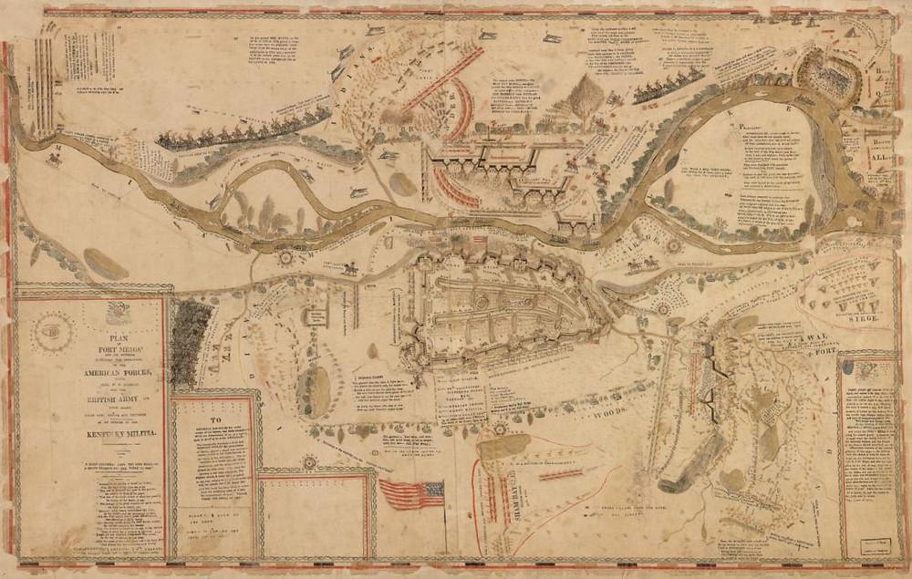 Fort Meigs Battle Map