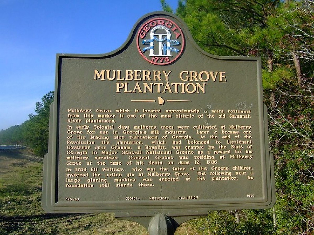 Mulberry Grove Plantation Historical Marker