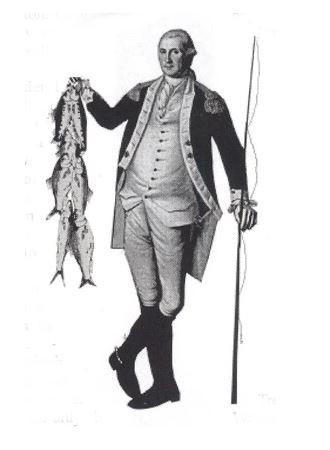 Caricature of George Washington the Fisherman