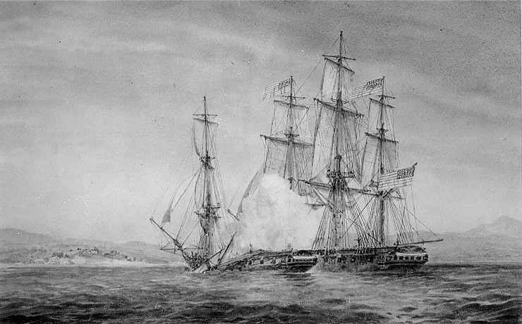 USS Hornet Capturing HMS Peacock