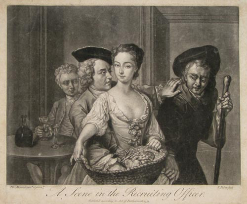 A Scene from The Recruiting Officer