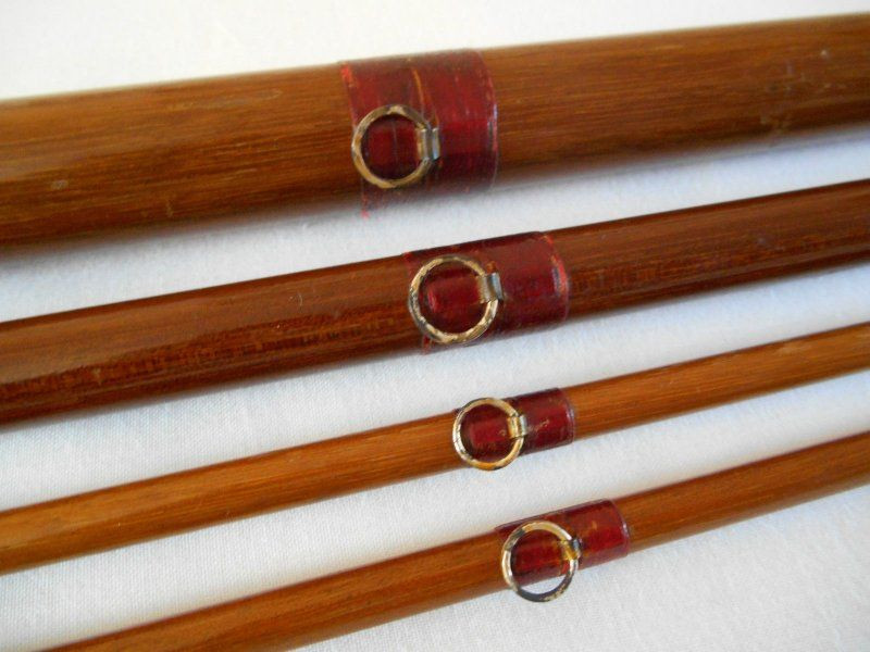 Early Wooden Rod with Ring Guides