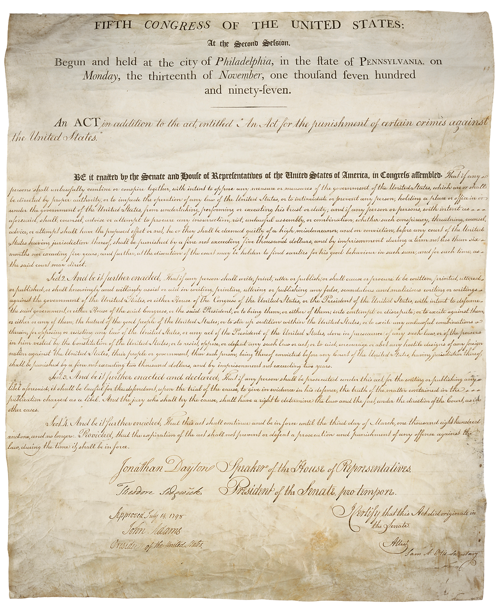 The Sedition Act of 1798