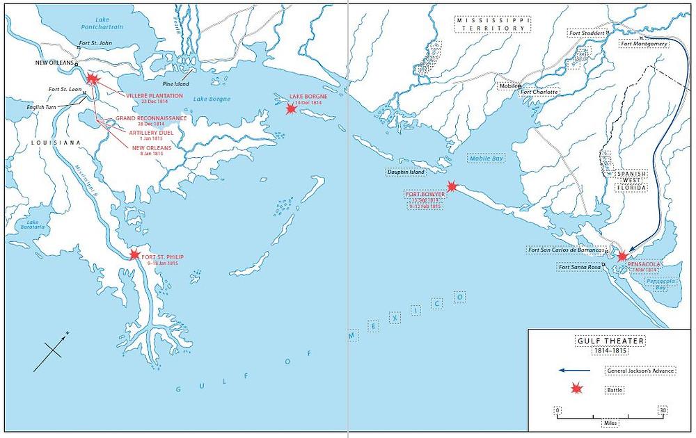 Gulf Theater of Operations 1814-1815
