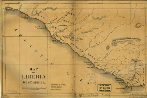 1830 Map of Liberia