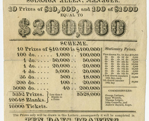 Lotteries as Public Finance