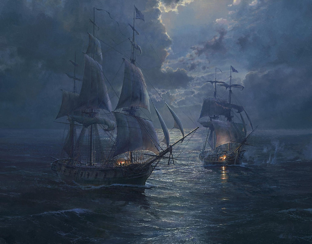 Battle by Moonlight - USS Wasp vs HMS Avon